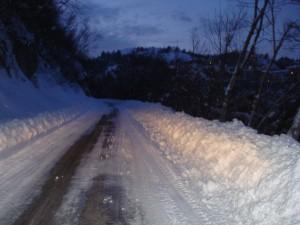 la neve a Vallinfreda